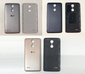new style c2ec4 df5cf Details about New Replacement LG K8 2017 TITAN M200N Back Battery Door Rear  Cover Panel Case