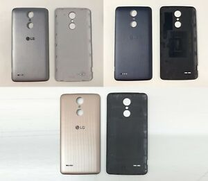 new style 9efba 2ff55 Details about New Replacement LG K8 2017 TITAN M200N Back Battery Door Rear  Cover Panel Case