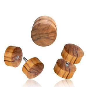 Pair Olive Wood Gauges,Wooden Plugs, Olive Wood Plugs