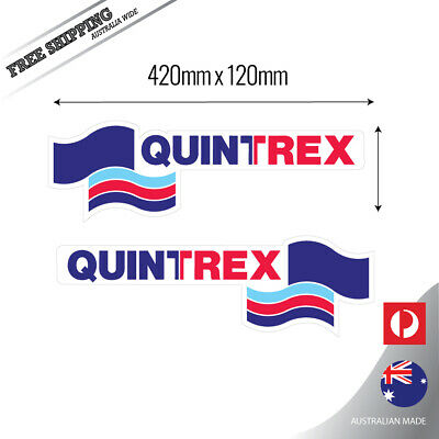 Quintrex 42cm Fishing Boat fishing Crome grey back Sticker Decal 2 pack