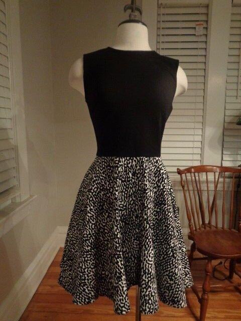 DIANE VON FURSTENBERG JEANNIE leopard fit & flare dress women's size 4