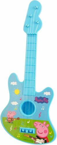Large New Peppa Pig String Guitar Music Set Children Kids Musical Instrument Toy