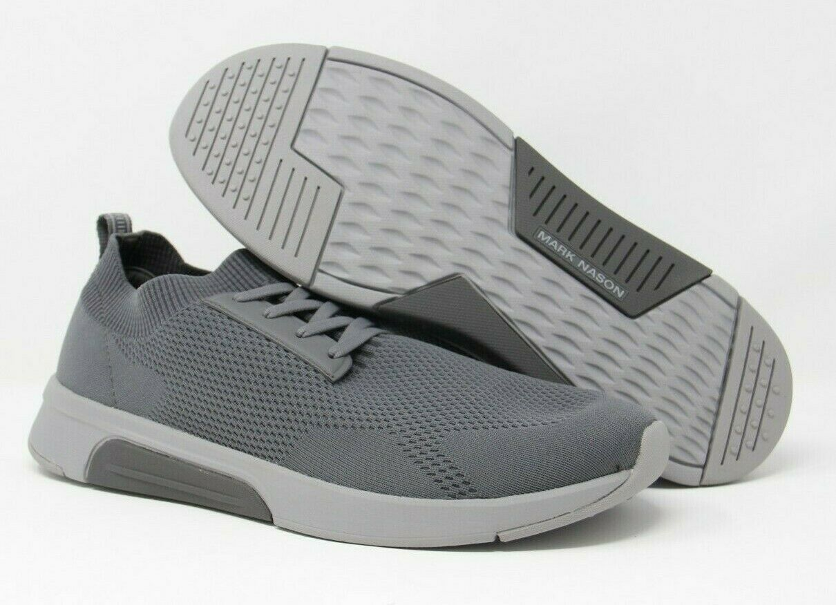 Mark Nason Los Angeles Men's Bolton Sport Knit Fashion Sneaker Charcoal Sz 11.5