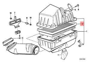 bmw e28 engine diagram genuine bmw e28 e30 e31 e32 e34 e36 engine air filter insert oem  genuine bmw e28 e30 e31 e32 e34 e36