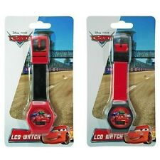 2x Disney Cars Digital LCD Wrist Watch  Stocking Stuffer Party Favor Gifts