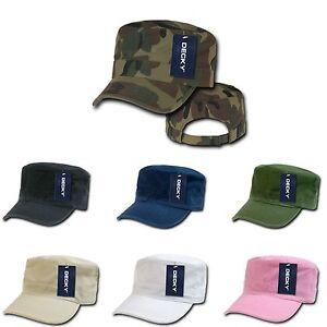 1 Dozen Washed Cotton Army GI Military BDU Cadet Castro Caps Hats Wholesale