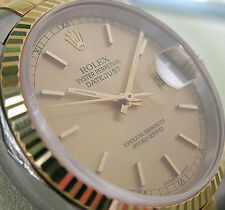Rolex DATEJUST 16233 Steel & Yellow Gold Mens Champagne Index Dial 36MM