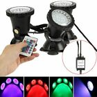 Submersible 36 LED RGB Pond Spot Lights for Underwater Pool Fountain + IR Remote