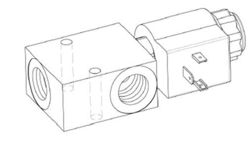 Distributeur hydraulique électrovanne 2//2NO valve 2 voies à clapet 40L 220AC 1//4
