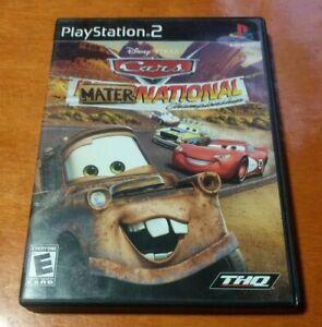 Disney Pixar Cars Mater-National Championship Sony PlayStation 2 PS2 THQ