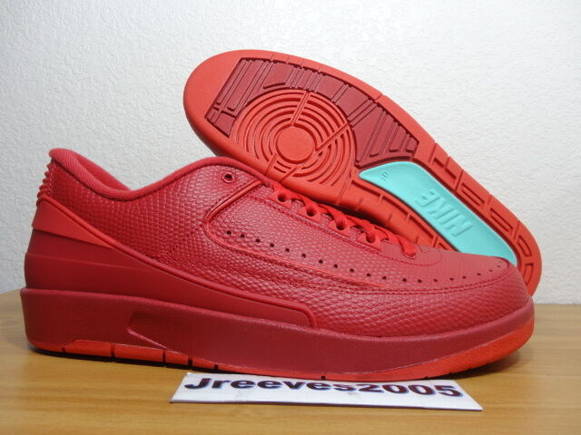 buy online 67587 5d967 Nike Air Jordan 2 Retro Low Sz 10 Gym Red University Turquoise 832819 606