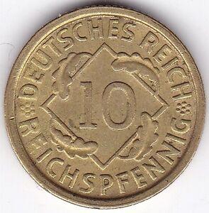 1925 E ALLEMAGNE 10 reichspfennig | Pennies 2 LB (environ 0.91 kg)-afficher le titre d`origine