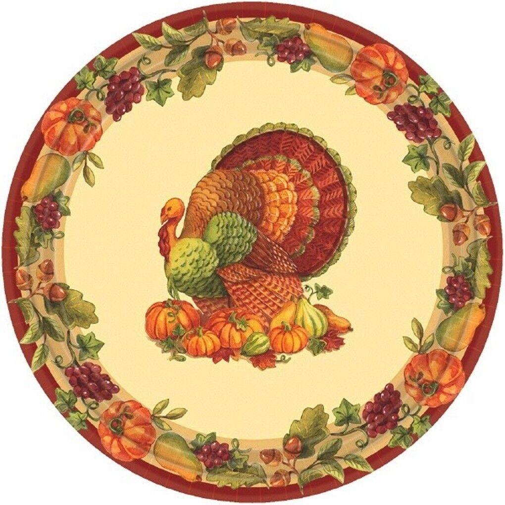 Joyful Thanksgiving 60 7 Dessert Plates Value Pack Fall Turkey For Sale Online