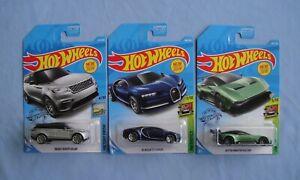 2019 Hot Wheels Bugatti 16 Chiron Range Rover Velar Aston Martin Vulcan X3 Ebay