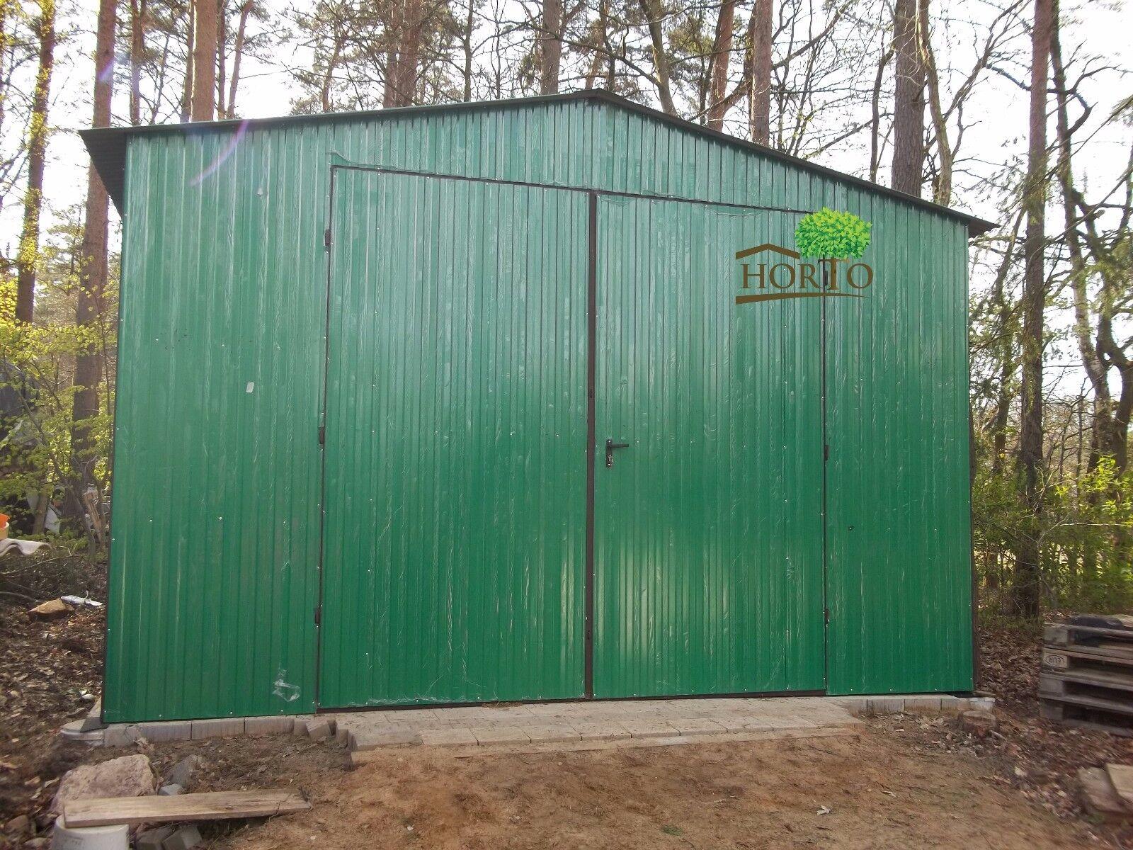 Schuppen Blechgarage Garage Fertiggarage Metallgarage Lagerraum halle 4,0X4,0