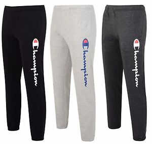 new mens champion logo sweat pants joggers tracksuit jogging bottoms trousers ebay. Black Bedroom Furniture Sets. Home Design Ideas