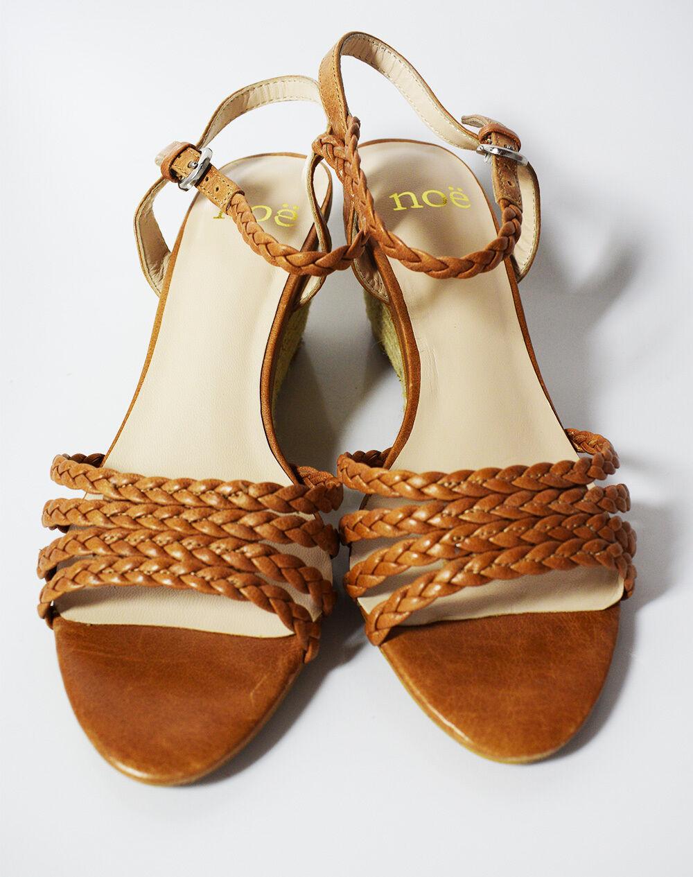 Noe Cuir Plateforme Femmes Sandales Chaussures Chaussons Marron Marron Marron a0431f