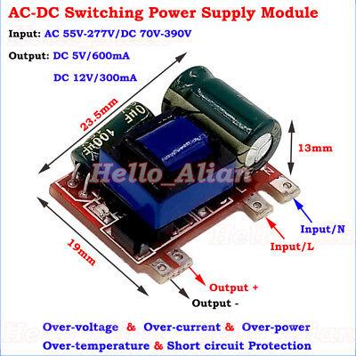 3.5W AC-DC 110V 220V to 12V 5V Buck Down Converter Isolated Power Supply Board