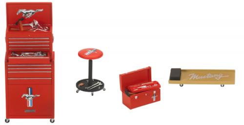 Motorhead Ford Werkstattzubehör 4teilig Werkzeug Shop Tool Set 1:18 #585