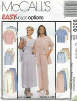 Mccall's 9309 Misses' Shirt, Top, Skirt, Pants And Shorts Sewing Pattern