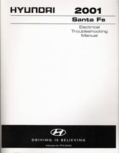 santa fe wiring diagrams 2001 2001 hyundai santa fe factory electrical troubleshooting manual  2001 hyundai santa fe factory
