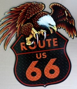 ROUTE-66-All-Weather-Metal-Sign-420-X-450-DIE-CUT