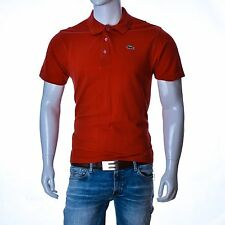 Lacoste men t-shirt red size 4