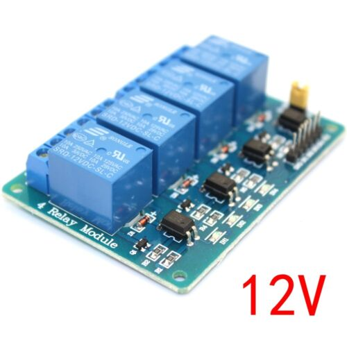 1PCS DC 12V 4-Channel Relay Module Optocoupler For Arduino PIC ARM AVR DSP M