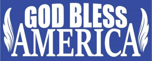 "God Bless America Decal//Sticker 4/"" x 10 3//4/"" White Vinyl For Window//Vehicle USA"