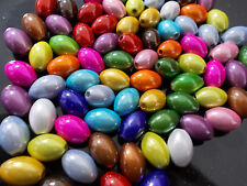 35pcs 14mm x 10mm MIRACLE OVAL Acrylic Beads -  ASSORTED / MIXED COLORS