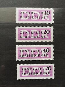 German-Stamps-Germany-1956-O33-36-DDR