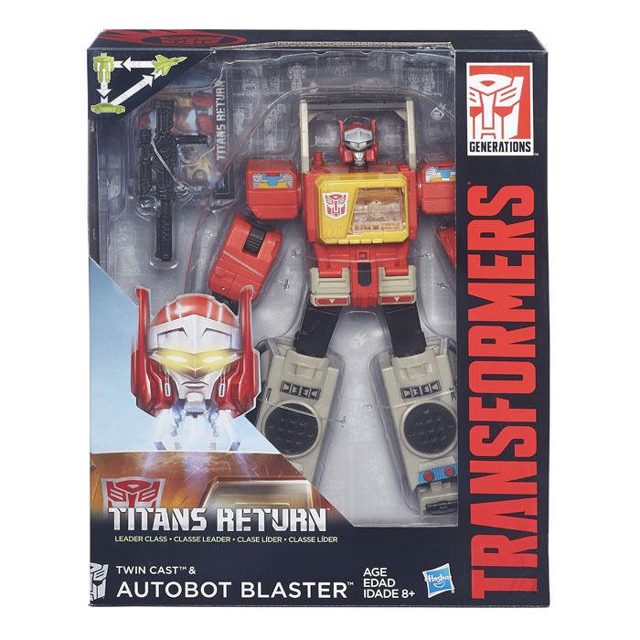Clase Líder de Transformers Titanes de retorno Twin Fundido & Blaster Nuevo