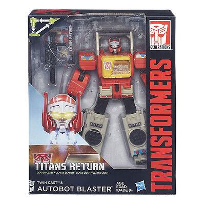 Hasbro Transformers Titans return Leader Twin Cast & Blaster New (G)