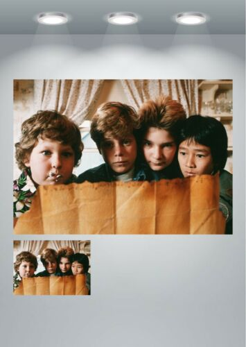 The Goonies Vintage Classic Movie Cast Large Poster Art Print