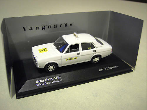 MORRIS MARINA 1800 TAXI LEICESTER blanc 1/43 VANGUARDS VA06307 voiture miniature