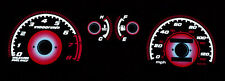 FREE SHIP TYPE-R RED GLOW 88-90 91 HONDA CIVIC EX Si GAUGE FACE OVERLAY JDM EF