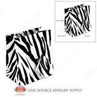 20 Zebra Print Paper Tote Gift Bag Merchandise 4w X 2 3/4d X 4 1/2h