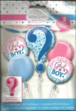 Boy or Girl Gender Reveal Baby Shower Balloon Bouquet 5 Pieces