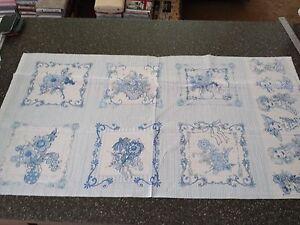 Flora-Bleu-Panel-23x43-Loralie-Harris-Quilting-Treasure-Floral-Picture-Patch