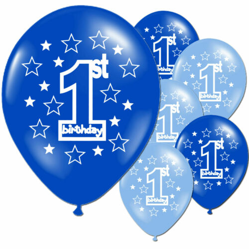Girl/'s Boy/'s 1st 2nd Birthday Party Pearlised Latex Printed Balloons Hot UK 10