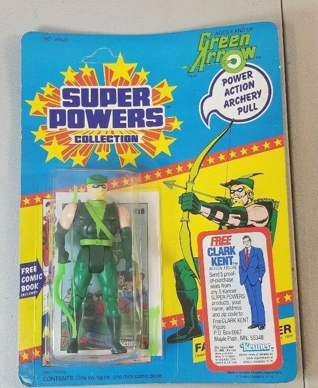 VINTAGE SUPER POWERS COLLECTION GREEN ARROW BY KENNER 1985 YT9