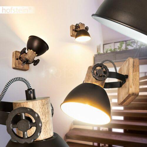 Anthrazit//Holz Decken Leuchte Flur Dielen Strahler Retro Wohn Schlaf Raum Lampe