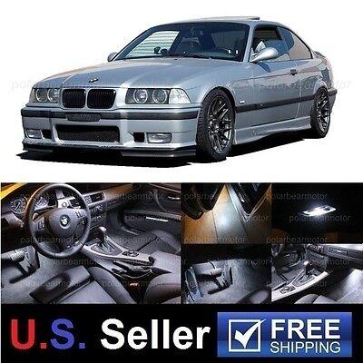 11x 1992-1998 BMW E36 325i 328i M3 LED SMD Lights Interior Package Combo White