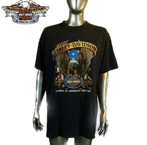 3d Black Davidson Harley 1991 Vintage Sturgis Shirt Stemma Hills Aquila T afBfqH5w