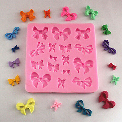 Silicone Cake Mold Butterfly Bow Knot Design Fondant Decorating Mould Tool New