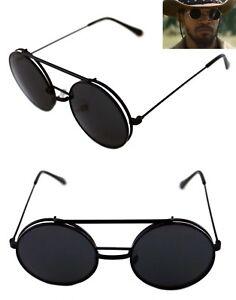 92022861d0d Men s Women s Round Shape Flip up Django Sunglasses and Clear Lenses ...