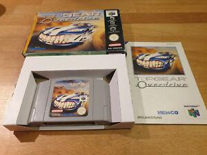 Top Gear Overdrive Nintendo 64 n64 Boxed cib OVP PAL