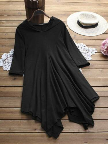 Plus Size Womens Irregular Hooded Mini Dress Casual Party Beach Gothic Skater
