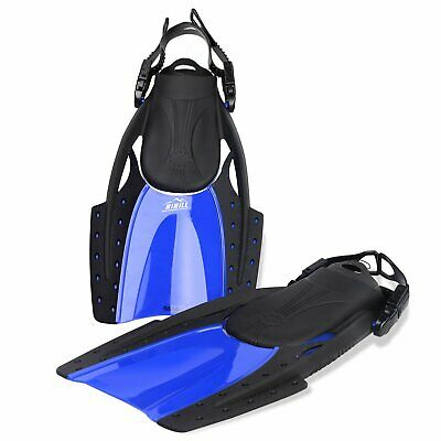 Adjustable Dive Fins Swimming Snorkeling Diving Snorkel Scuba Swim Adult M