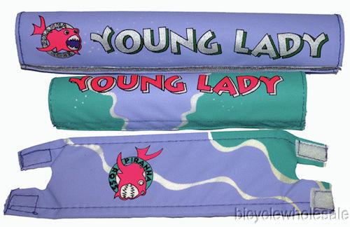 Lavender Frame Pad Set NEW! Piranha Young Lady 3 Piece BMX Pad Set